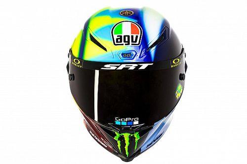 Fotos: Rossi renueva el diseño de casco para su aventura en Petronas