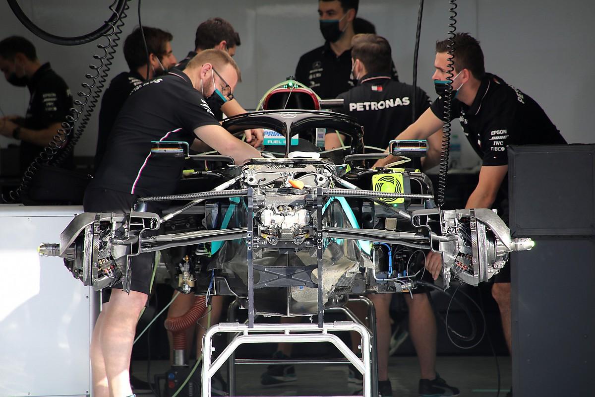 Mercedes: la W11 è tornata a essere priva del DAS