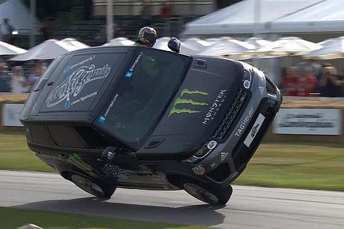 Video: Bu Range Rover Goodwood'u iki tekerlekte geçiyor