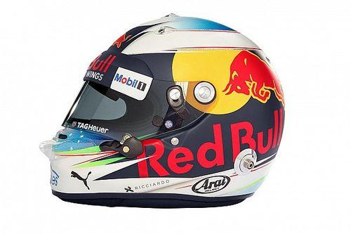 Anche Daniel Ricciardo rivela i nuovi colori del suo casco 2017