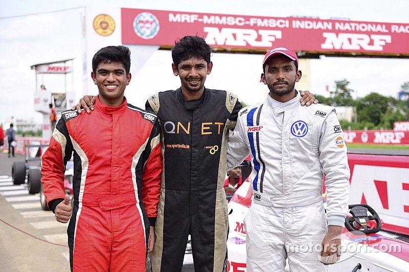 Chennai MRF F1600: Sandeep storms to Race 1 victory