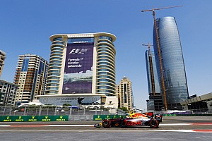 Formula 1 Practice report Azerbaijan GP:  Verstappen leads Red Bull 1-2, Perez crashes in FP1