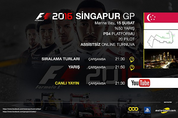 SİMÜLASYON DÜNYASI Son dakika F1 2016 online turnuva: Singapur GP - Canlı Yayın