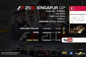 F1 2016 online turnuva: Singapur GP - Canlı Yayın