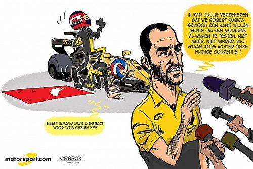 Cartoon van Cirebox - De test van Robert Kubica