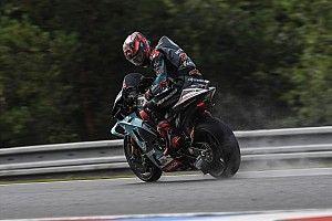 Test MotoGP Brno: nuova carena per Rossi, poi arriva la pioggia