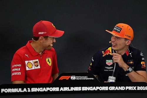 La respuesta contundente de Vettel a Verstappen en rueda de prensa
