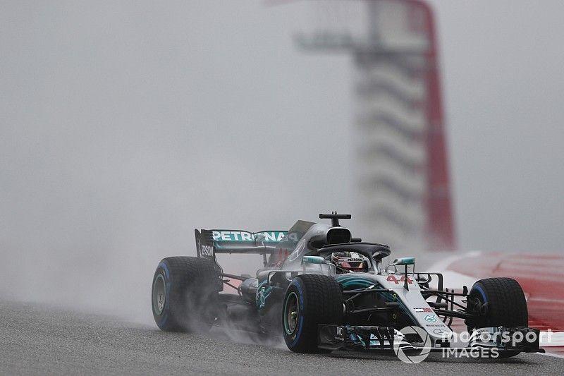 EL1 - Hamilton débute bien sous la pluie