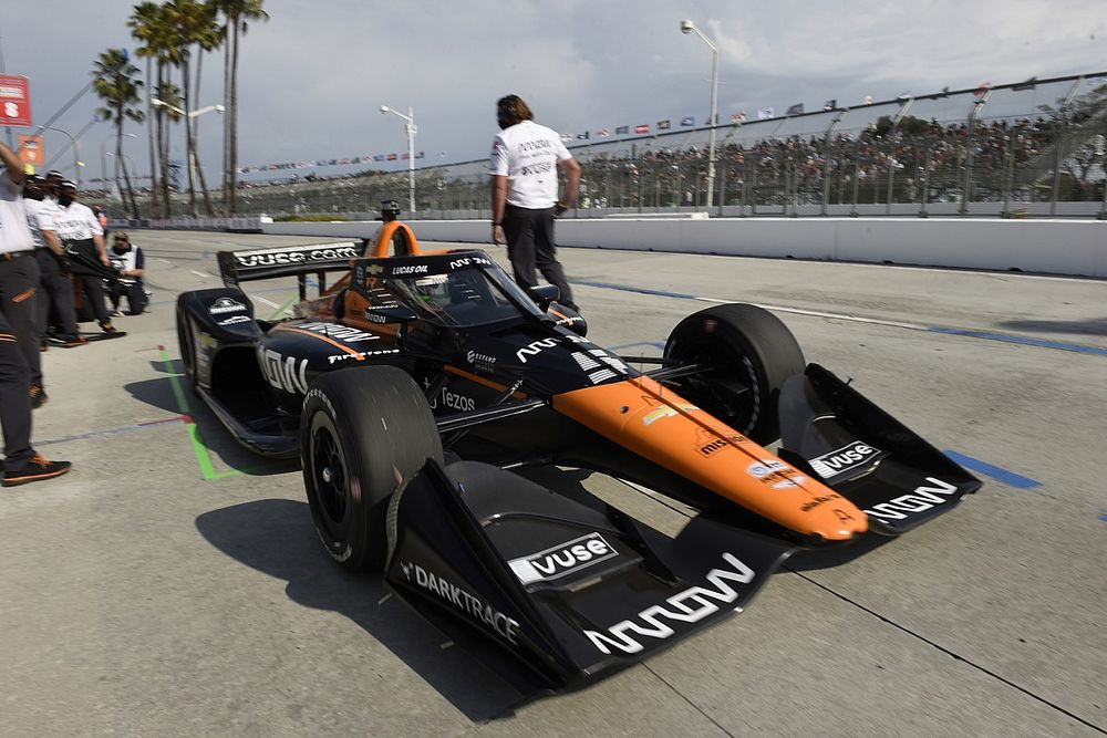 """O'Ward upset to get """"hosed"""" by """"very odd call"""" from IndyCar in Long Beach Q2"""