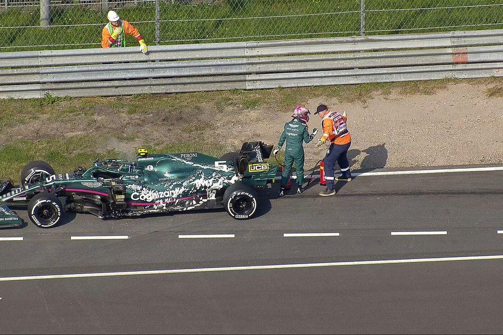 Vídeo: el caos de la avería de Vettel en Zandvoort en la FP1