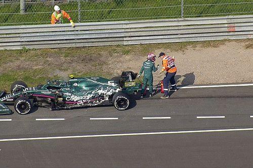 VIDEO: El caos que provocó la falla Vettel en la FP1 de Zandvoort