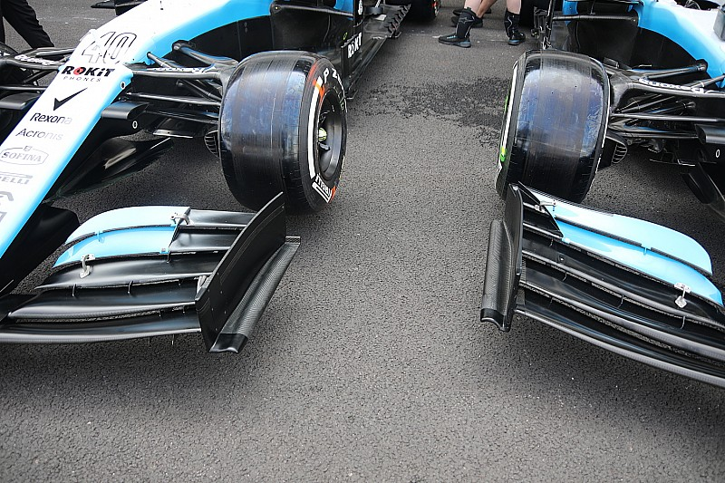 Williams: ali diverse e vecchi pezzi riciclati!