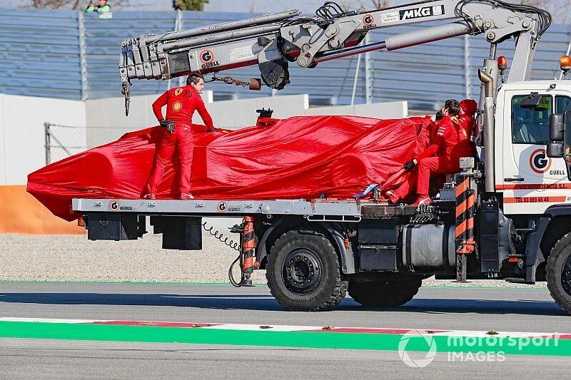 Un problema de motor detiene a Ferrari