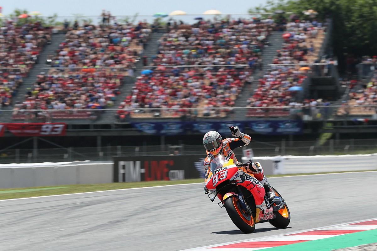 Marquez domineert in Barcelona, Lorenzo schakelt toptrio uit