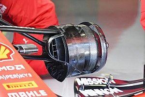 Ferrari: i cestelli dei freni sono più aperti per favorire il warm up delle gomme