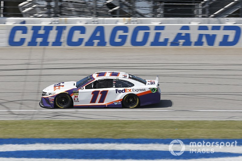 Late caution hands Denny Hamlin win in chaotic Stage 1