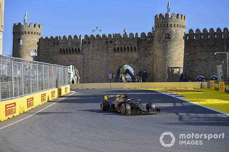 Fotogallery: lo svizzero Romain Grosjean nel Gran Premio dell'Azerbaijan