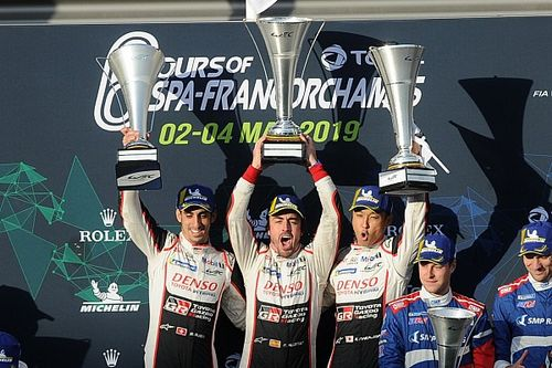 """アロンソ、スパでの勝利に安堵。トヨタ8号車がタイトルに""""王手"""""""