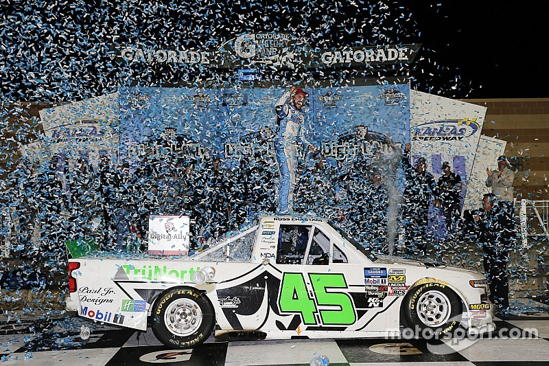 Ross Chastain earns upset win in Kansas Truck race