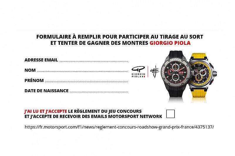 Règlement jeu concours - Gagnez une montre Giorgio Piola