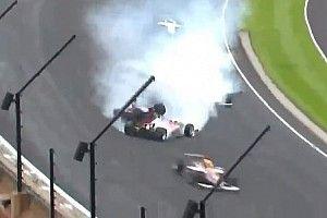 VIDEÓ: Nem kis baleset az Indy Lightson