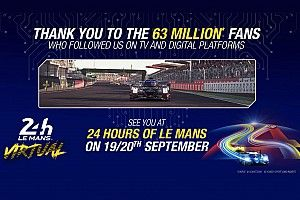 Le Mans 24h Virtual receives record TV and digital audiences