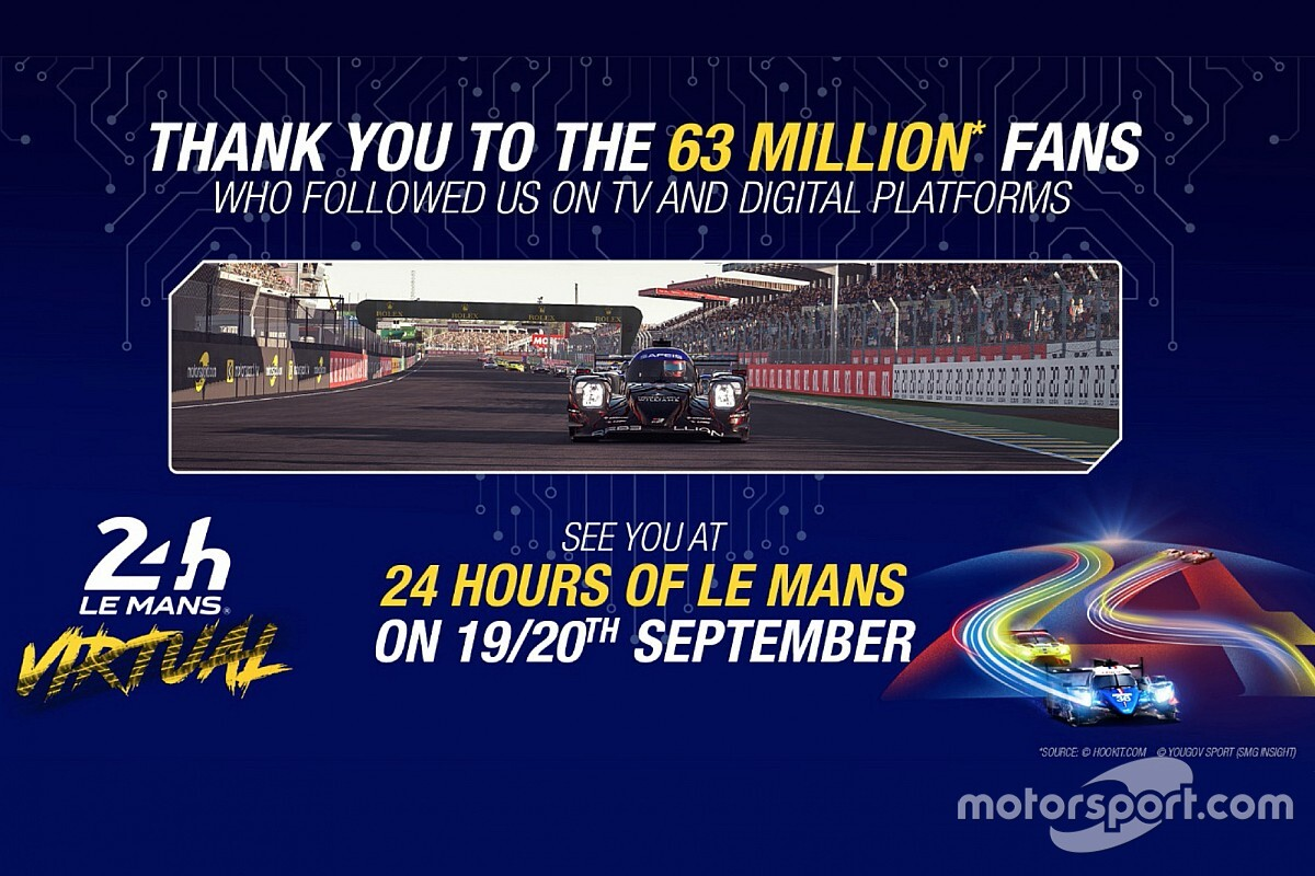 24h Le Mans Virtual: record di ascolti TV e web