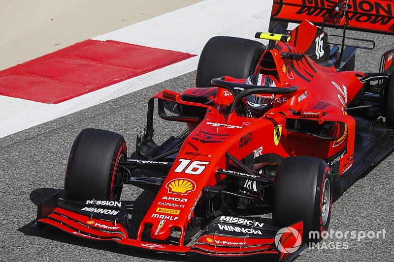 Bahrain GP: Leclerc tops FP3 as Ferrari sweeps practice