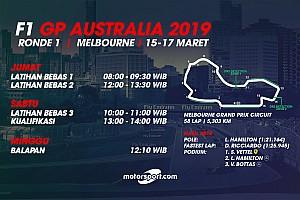 Jadwal lengkap F1 GP Australia 2019
