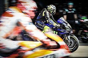 Rossi resiste el empuje de Márquez tras 200 grandes premios