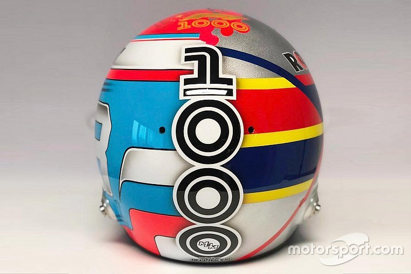 Russell reveals 'half-half' Montoya-inspired helmet for China