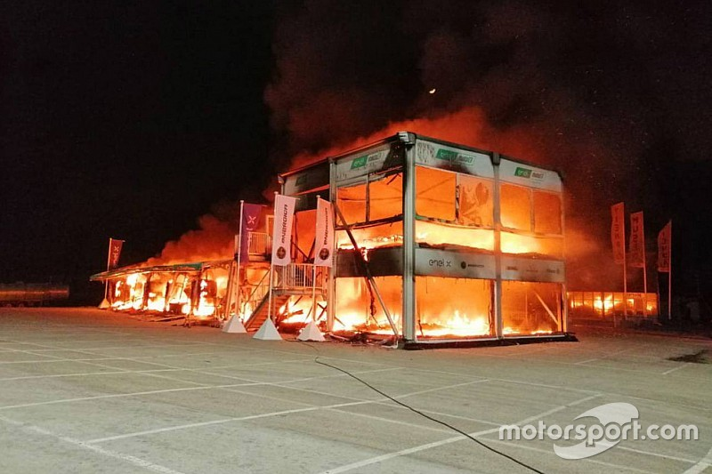 All MotoE bikes destroyed in Jerez fire