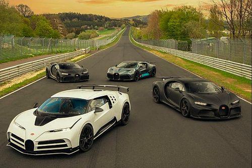 Una flota de pruebas muy especial de Bugatti en Nurburgring