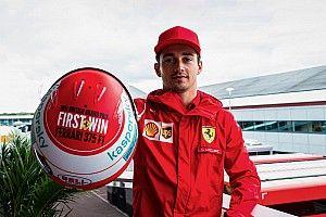 Leclerc, Ferrari'nin ilk zaferi onuruna Silverstone'da özel bir kaskla yarışacak