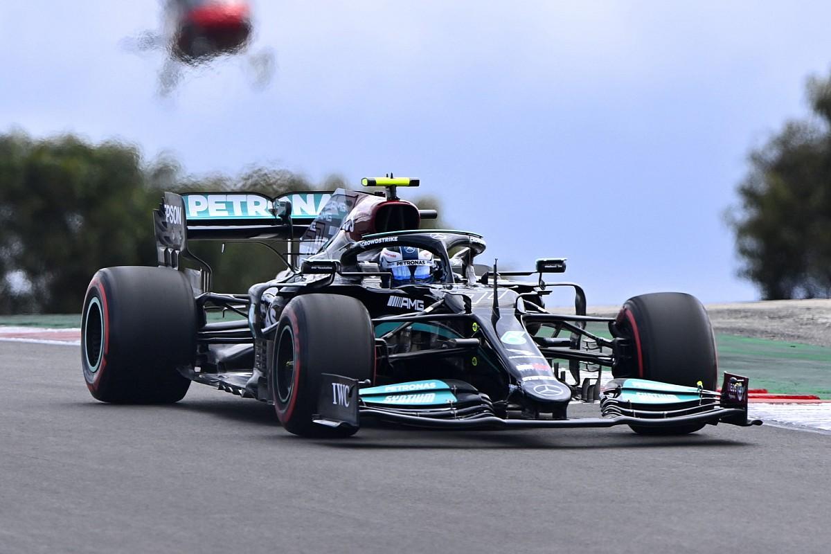 """Bottas lidera 1-2 de Mercedes en Portugal y """"Checo"""" Pérez saldrá 4°"""