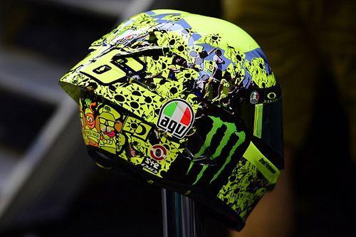 El casco especial de Rossi para su despedida de Misano