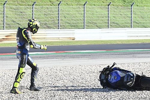 Rossi explains reason for Portimao practice crash