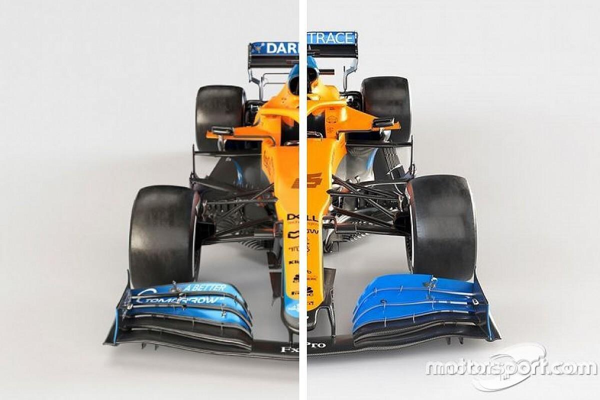 Comparación McLaren F1 2021 vs. 2020