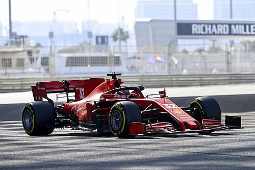 Who is driving in the Abu Dhabi F1 young driver test?