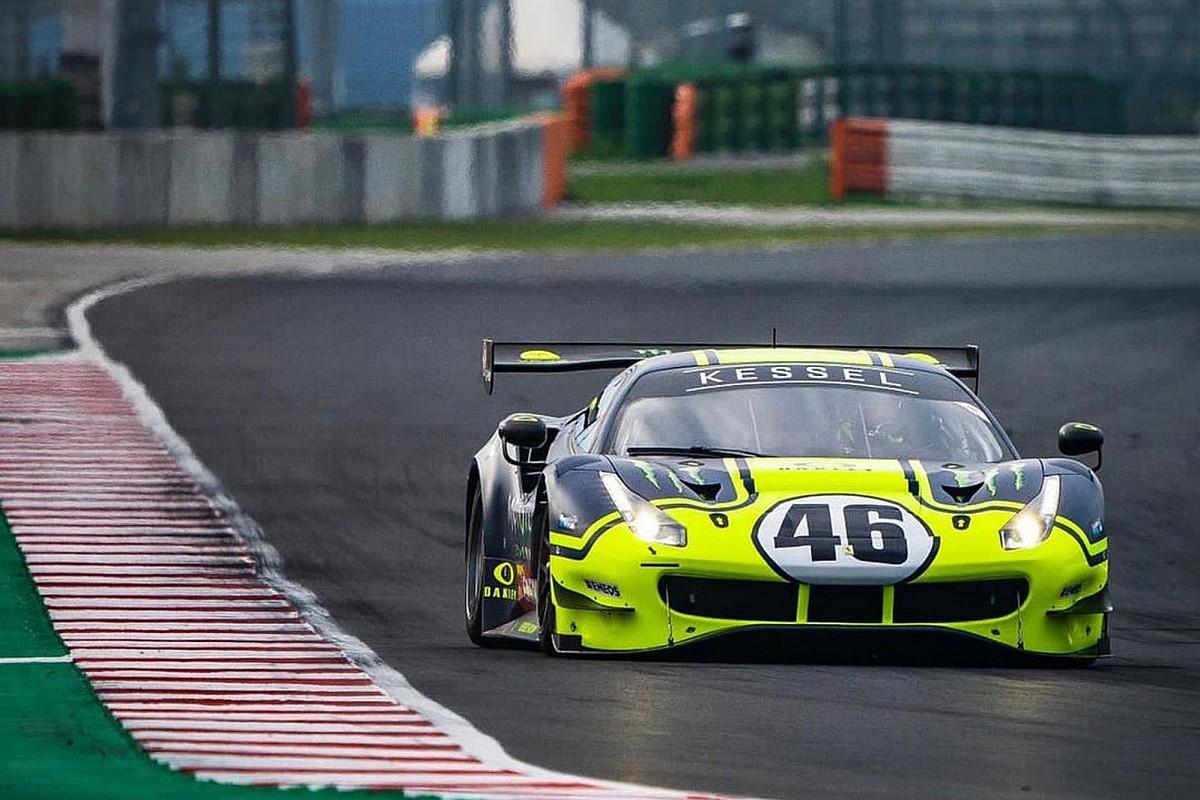 Valentino Rossi: test a Misano con la Ferrari 488 GT3