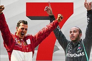 Los 7 títulos mundiales de Schumacher y Hamilton en F1