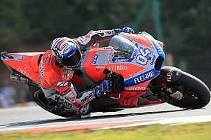 Brno MotoGP: Dovizioso leads Ducati 1-2 in warm-up
