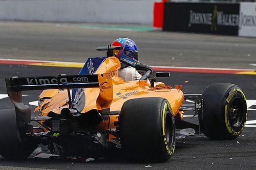 Alonso, Spa'daki kazadan sonra yedek parça eksikliği yaşıyor