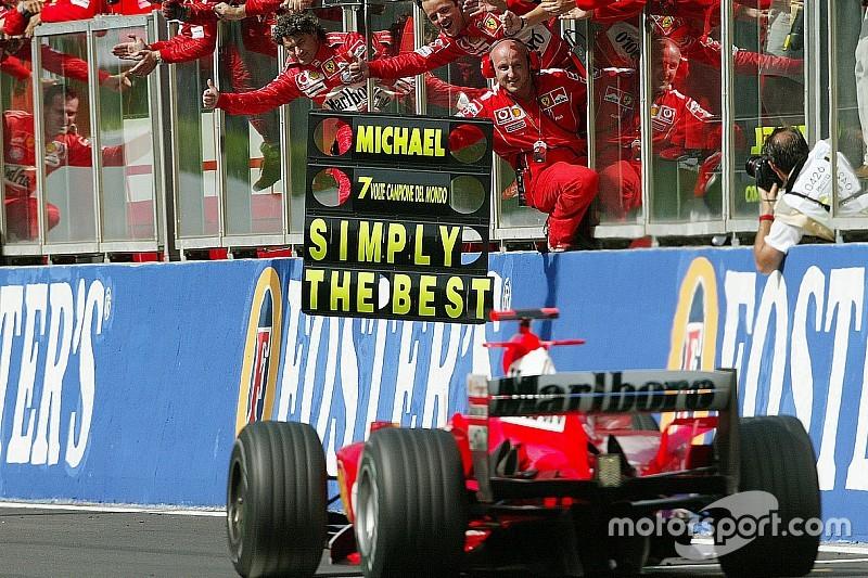Galeri: Schumacher 7. şampiyonluğunu kazanıyor