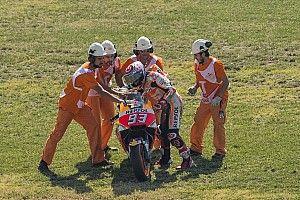 "Marquez: Aragon qualifying crash down to ""pushing too much"""