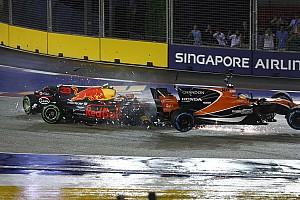F1 速報ニュース ライコネン、フェルスタッペン、ベッテルが1周目にクラッシュ。レース後に審議