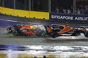 Los Ferrari y Verstappen, investigados tras el caos de la salida
