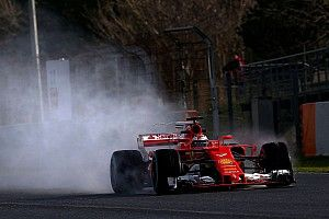 Barcelona F1 test: Raikkonen tops wet final test morning