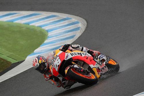 """Pedrosa: """"No me sorprendió que Márquez y Rossi montasen el neumático de seco"""""""