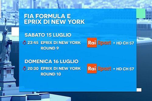 Ecco la programmazione TV del doppio ePrix di New York